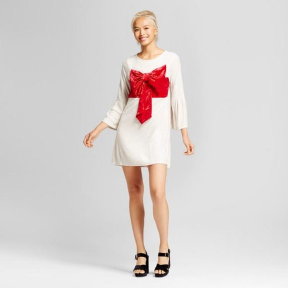 b9a0f1bbe Xhilaration Dresses | Velvet Holiday Bow Dress Xl | Poshmark